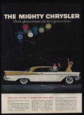 1957 Mighty CHRYSLER SARATOGA 2 Door Hardtop Car - Wedding Party - VINTAGE AD
