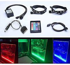 Tingkam Full Kit RGB 5050 SMD 2pcs 18leds 30cm LED Strip Light Attached to Your