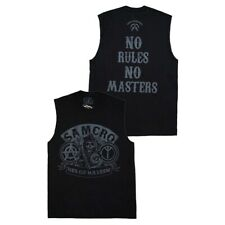 Sons of Anarchy No Rules No Masters Muscle T-Shirt New