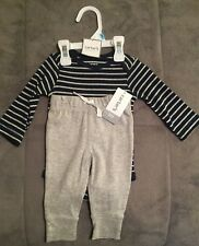 Carter's 3m Boys Striped Long Sleeve One Piece and Pants
