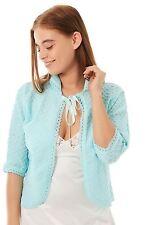 Lady Olga Ladies Knitted Bed Jackets Crochet Design Nightwear 20-22 MINT