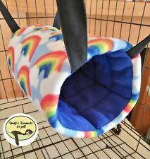 cosy Large Tunnel hammock. ferret,rat,degu, Guinea pig.small Pet. Rainbow 🌈☁️