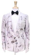 * PAUL SMITH * Astronomy Print 1Btn Cotton Tuxedo Shawl Dinner Jacket Blazer 36S
