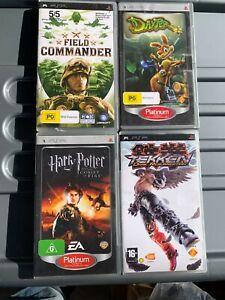 PSP GAMES X4, DAXTER, TEKKEN DARK RESURRECTION, HARRY POTTER, FIELD COMMANDER
