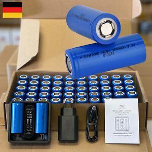 25 / 50 Stk. 3,2V LiFePO4 Akku 3200mAh 3600mAh 6000mAh Lithium Zelle + Ladegerät