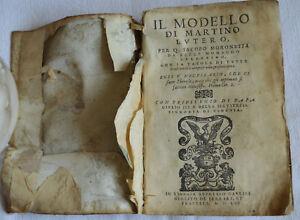 1556 IL MODELLO DI MARTINO LUTERO MARTIN LUTHER FIRST ITALIAN LANGUAGE GIOLITO