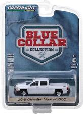 2018 Chevy Silverado Diecast  Truck 1:64 Greenlight Blue Collar 3 inch WHITE