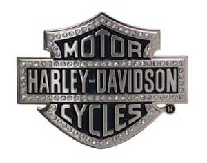 Harley-Davidson Women's Belt Buckle Lineage Bling Bar & Shield Silver HDWBU10635