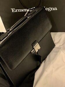 $2,395 Ermenegildo Zegna Leather business bag Brief Case NWT