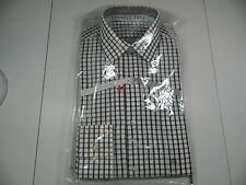 Van Heusen Gray/Green Check Wrinkle Free Dress Shirt Long Slv 141/2 32/33 NWTS