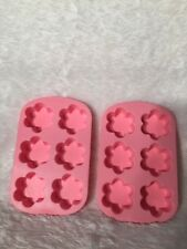 Wilton Silicone 2 Flower Molds Crafting Soap Candy Ice