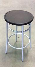 Sgabello medio per bar,cucina in metallo senza schienale seduta nero plastica