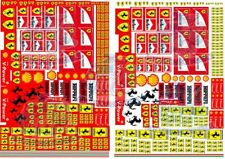 Ferrari Racing Decals for Hot Wheels and 1:64 scale Diecast Cars