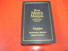 THE MERCK MANUAL-SEVENTEENTH EDITION-CENTENNIAL EDITION-EDIZIONE ITALIANA-1999