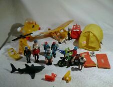Fisher price adventure people lot 10 action figure made in Hong Kong Tonka tent