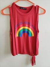 Hippie Chic Girls Small Color Your Life Adopt A Rainbow Shirt