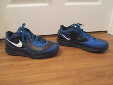 Used Worn Size 12 Nike Air Max 360 BB Low Flywire All Star Shoes Black Blue