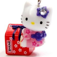 Hello Kitty Swarovski Elements Crystals Japan Traditional Gift Box Pendant Charm