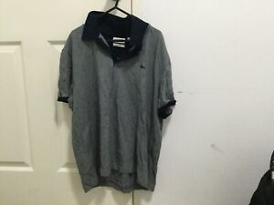 Lacoste Mens Blue & Grey Polo S/S Shirt. Regular Fit. Size 7/XXL. Made in Tunisi