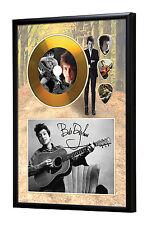 Bob Dylan Gold Vinyl Look CD, Autograph & Plectrum Display #2