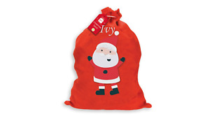 Personalised Embroidered Father Christmas Xmas Santa Sack Stocking