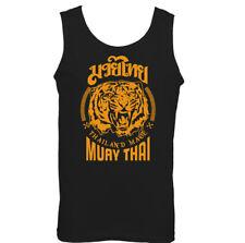 MUAY THAI VEST MMA UFC Martial Arts Training Top Gym TIGER Glove Fighter Mens
