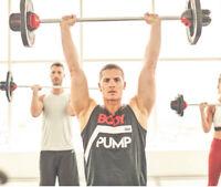 Reebok Men's Les Mills BODYPUMP Workout Gym Sleeveless Vest Tank Top Activchill