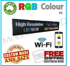 LED SIGN P5 RGB Scrolling WIFI Programmable HD Message Window Display 640x160mm