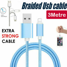 3M BLUE Braided USB Data Charging Cable For iPhone 5 6 6plus 7 7plus 8 X