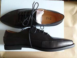 BNWB Shoe the Bear Black All Leather Lace Up Shoes Size EU 41/ 7U.K