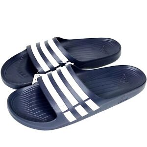 adidas Duramo Men's Slide Sandal stylish & comfy Navy Blue & White size 18 NEW