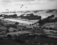 7x5 Lucido Foto ww10D2 Normandia Invasione WW2 World Guerra 2 Omaha Spiaggia N 1