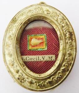 1st Class Reliquary St. Cecilia Virgin Martyr Holy RELIC & Seal Patron of Music