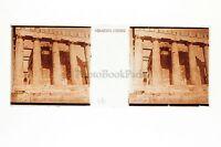 Acropoli Grecia Placca Stereo Positive 45x107mm Vintage Ca