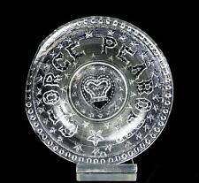 """H GREENER SUNDERLAND FLINT GLASS EAPG GEORGE PEABODY 5"""" COMMEMORATIVE PLATE 1869"""