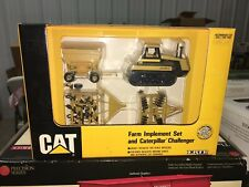 Ertl Cat Caterpillar Challenger 65 & Implements Set Farm Toy Tractor 1/64 Nib