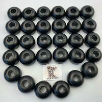 30 Knex Black Head Top Pieces - K'nex Standard Parts Lot