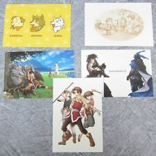 GENSO SUIKODEN II 2 Lot of 5 Postcard Set Art Book PS Ltd