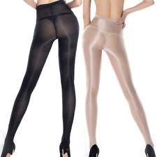 Women's Sexy Sheer Oil Shiny Glossy Pantyhose Tights Stockings Hosiery Re