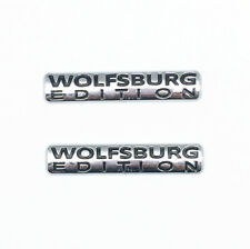 2-Wolfsburg Edition Badge For VW Emblem Chrome Golf Sticker Passat Jetta TDI GTI