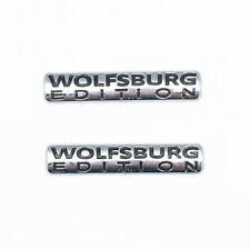 2-Wolfsburg Edition Badge For VW Emblem Chrome Golf Sticker Passat Jetta TDI GTI
