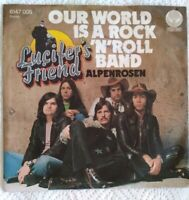 "LUCIFER'S FRIEND⚠️7""Vinyl-1973-Our world is a rock'n' roll Band/Vertigo 6147005D"