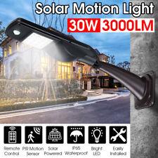Solar Power Remote Control Motion Sensor Garden Security Lamp Outdoor Light