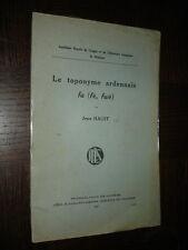LE TOPONYME ARDENNAIS FA (fè, fwè) - Jean Haust 1937 - Ardennes Belgique