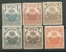 Haiti Scott #38-43 MH / Mng 1896