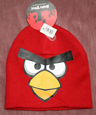 ANGRY BIRDS Youth Boy's Red Graphic Beanie Cap Hat Sz OS NWT**
