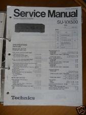 Service Manual technics su-vx500 amplifier, original