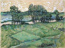 Van Gogh Drawings and Watercolors: Landscape with Bridge - Fine Art Print