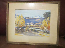 WILLIAM LEITCH - ORIGINAL WATERCOLOR ~ SIGNED w/ Description ~ FRAMED