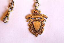 SoIid SiIver Victorian Fob Chain Necklace with Shield & TBar